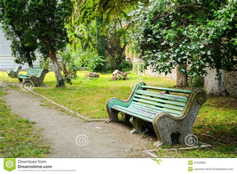 old park benches old bench in a park royalty free stock image image 31322806
