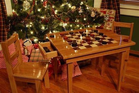 handmade kids checker board table  chairs  larue woodworking custommadecom