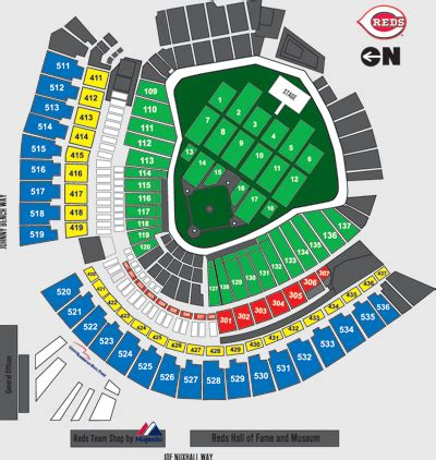 cincinnati reds seating chart with seat numbers 2 jason aldean tickets cincinnati great american front row