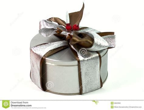 Metal Gifts - metal gift box with beautiful bow stock photo image 6842360
