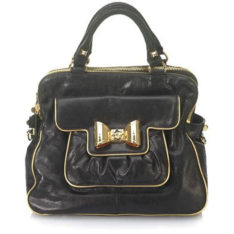 Betsey Johnson Lock It Up Purse by Betsey Johnson Bow Lock Satchel Handbag