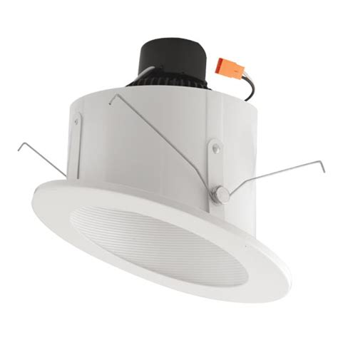 led recessed lighting for sloped ceiling elco el713w white 6 quot sloped ceiling led baffle inserts