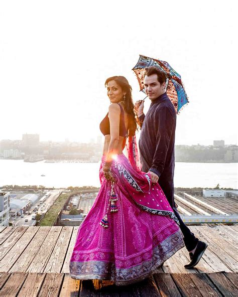 A Modern Sangeet and Traditional Garden Wedding in New