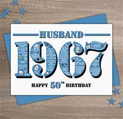 husband 50th birthday card ebay