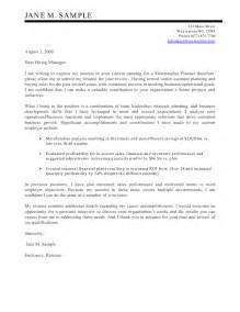 cover letter for financial planner career cover latter sle cover letter for financial