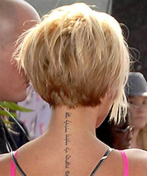 picyures of back stacked shorter and sides angled at chin 15 best victoria beckham blonde bob haircuts crazyforus