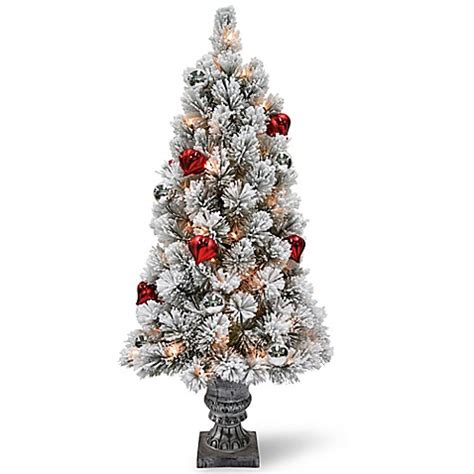 national tree company 174 pre lit led snowy bristle pine