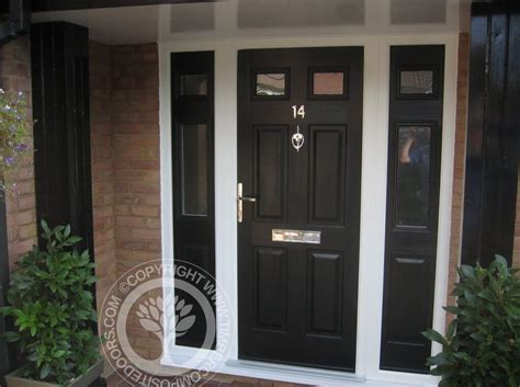 front door with window black composite front door with 2 side window