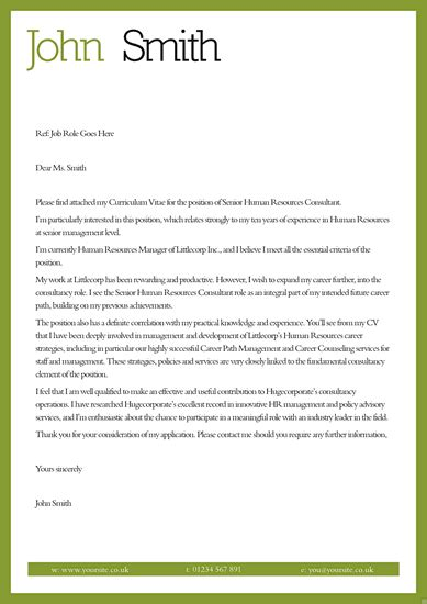 cover letter template uk cover letter for cv templates and template