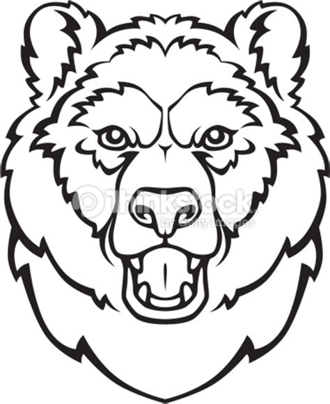 coloring page of a bear head bear head drawing clipart best