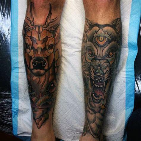 male leg tattoo designs 80 shin tattoos for masculine lower leg design ideas
