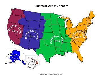 printable united states map with time zones and state names blank time zone map united states
