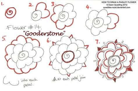 how to draw doodle flowers how to draw paisley flower 14 gooderstone by quaddles