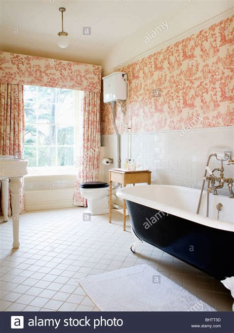 wallpaper matching curtains pink toile de jouy curtains and matching wallpaper in