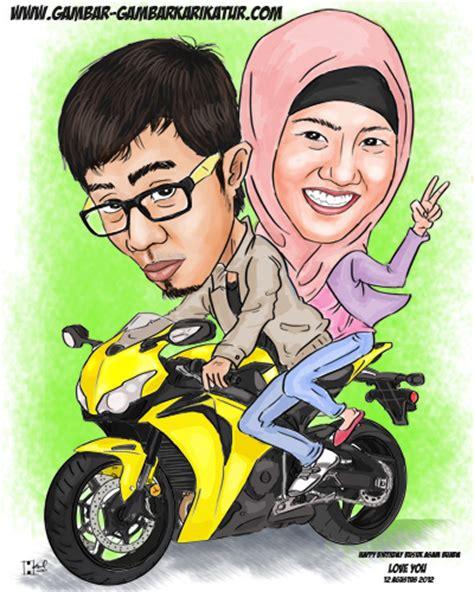 gambar kartun pasangan romantis muslim car interior design