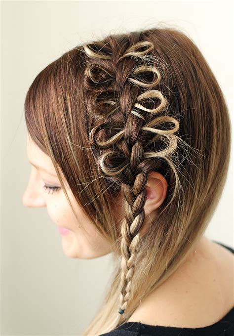 braided hairstyles bow exclusive cute girls hairstyle bow braid hairzstyle com
