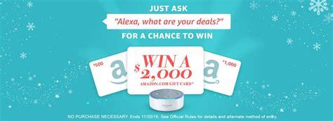 2000 Amazon Gift Card - win a 2000 amazon gift card coupons and deals savingsmania
