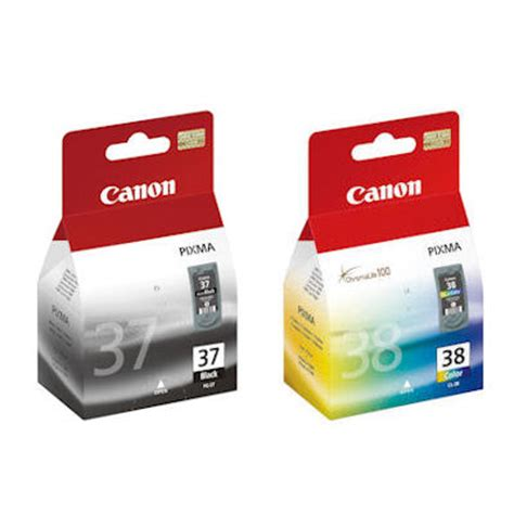 Tinta Printer Canon Ip 1900 canon pg37 color negro cl38 cartucho de tinta para la impresora pixma mp140 mp190 mx310 ebay