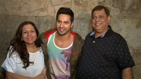 biography of mother and father varun dhawan family photos father mother wife brother