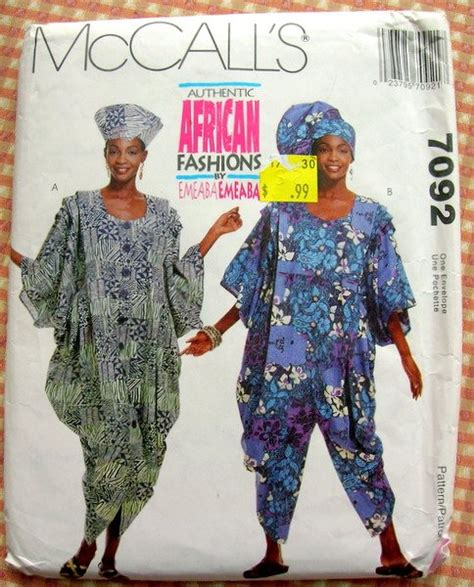 sewing patterns in south africa misses african fashions dress and jumpsuit mccall s 7092
