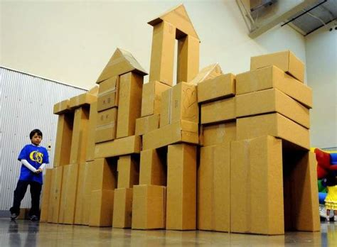 childrens festival giant cardboard building blocks