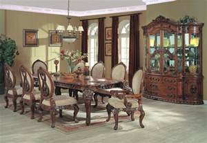 Country Dining Room Set Country Dining Room Set Formal Dining Collection With Carved Leg Table Chairs And China