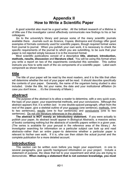 how to write an introduction to a scientific research paper appendices in research papers writefiction581 web fc2