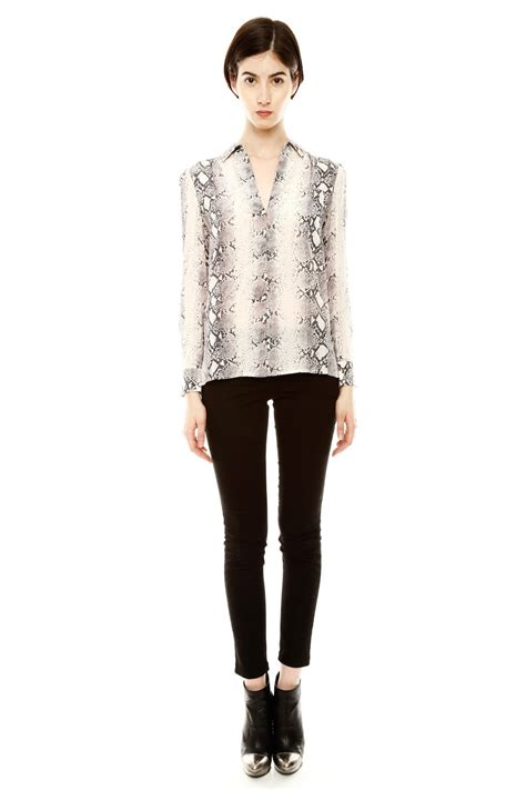 Blouse By K L A M B Y acrobat snake print blouse from houston by 224 bient 244 t