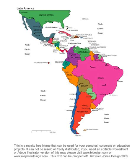 printable maps of south america printable map of central america and south america
