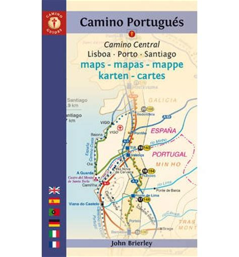 camino portuguã s lisbon porto santiago central and coastal routes books camino portugues maps mapas mappe karten cartes