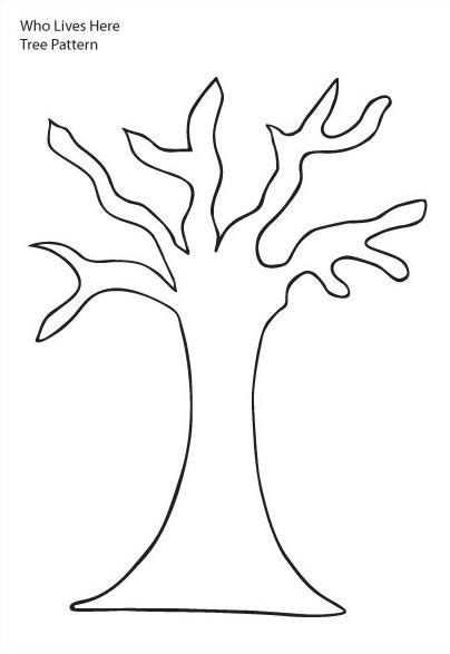 tree pattern without leaves coloring page tree tree trunk clipart tree pattern tree with six branches