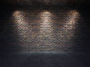 n vieux mur de brique 233 clair 233 par trois projecteurs