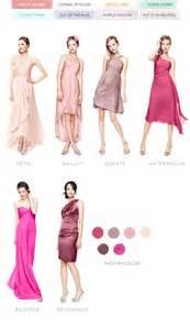 david s bridal bridesmaid colors color palettes bridesmaid dresses by color palette