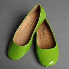 lime green flat shoes lime green on