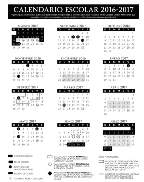 Calendario Escolar 2016 2017 Mexico | calendario escolar 2016 2017 gob mx gobierno gob mx