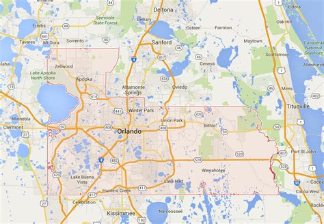 where is orlando in usa map map of orlando area orlando area map florida usa