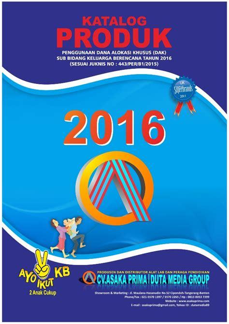 Daftar Harga Katalog Produk daftar harga katalog produk juknis dak bkkbn 2016