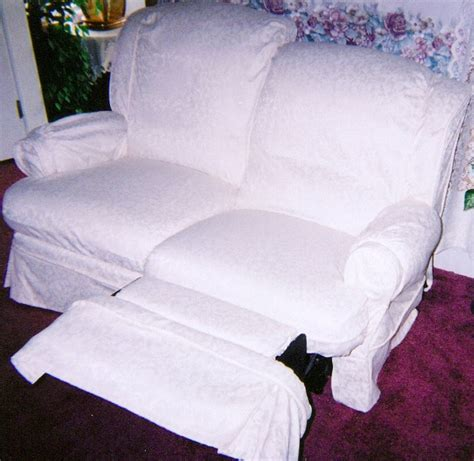 White Cotton Sofa Slipcovers Slipcovers For Reclining Sofa And Loveseat Home