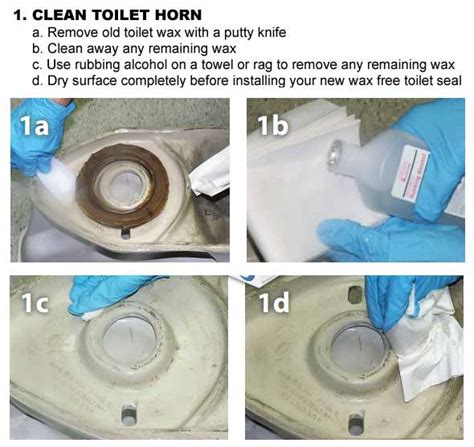 toilet wax rings flange gaskets wax free seals
