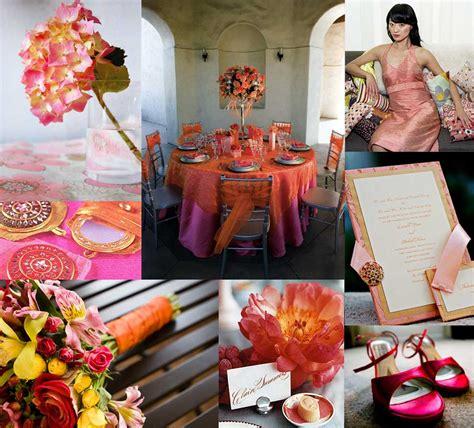 coral and orange wedding a pink and orange palette elizabeth designs the