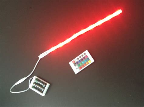 battery led light strips 5050 rgb color battery powered led light