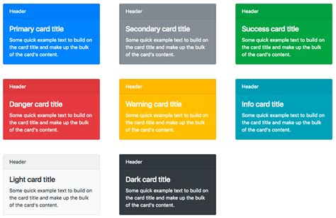 bootstrap card template bootstrap 4 css classes list with descriptions free