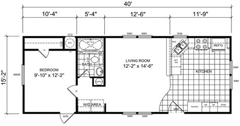 16 wide mobile home floor plans sunland park 16 x 40 602 sqft mobile home factory expo