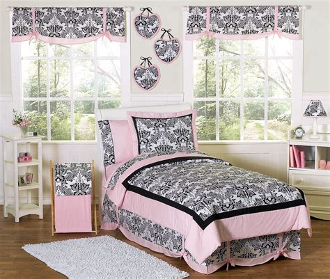 pink black french style bedding twin full queen