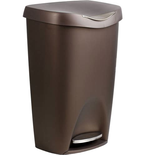 Bronze Brim 50 L Step Can In Kitchen Trash Cans Garbage Can For Kitchen