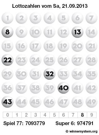 wann werden lottozahlen am samstag gezogen lottozahlen samstag 21 09 2013 lotto archiv