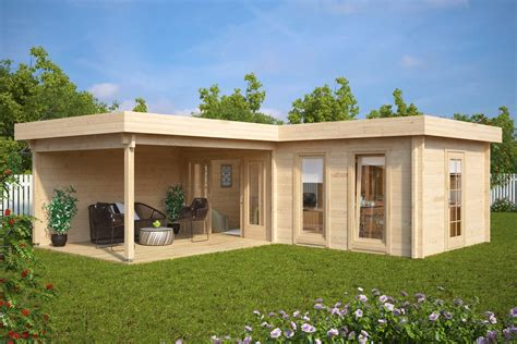 large corner summer house with veranda hansa deluxe a 22m2 - Terrasse 6 X 5