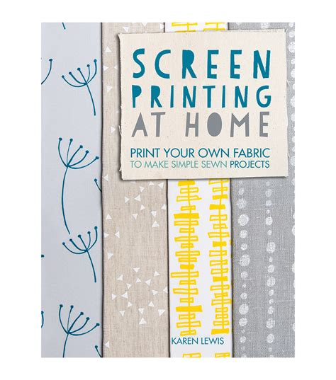 screen printing at home book jo