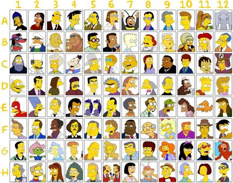 simpsons name characters pictures and names the simpsons minor character and