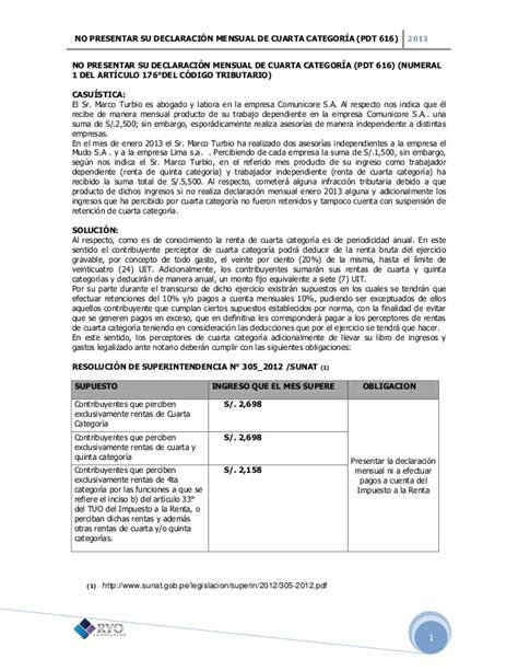 manual para presentar declaracin mensual no presentar su declaraci 243 n mensual de cuarta categor 237 a